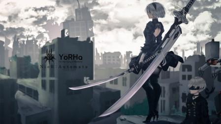 《尼尔:机械纪元/NieR Automata》武器 武士刀 4k高清壁纸高端桌面精选 3840x2160