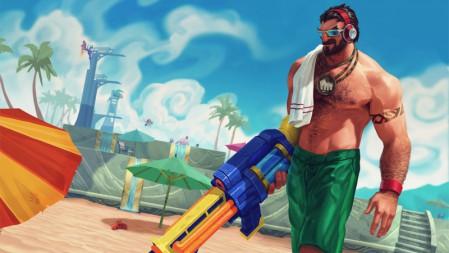 法外狂徒-泳池派对-格雷福斯 英雄联盟 壁纸极品壁纸推荐 3840x2160