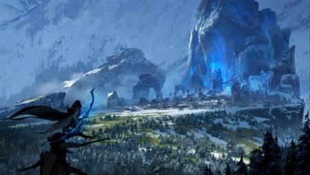 寒冰射手-艾希 官方插画 英雄联盟 壁纸高端桌面精选 3840x2160