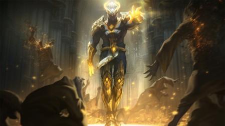 复仇焰魂 苍穹之光 布兰德 英雄联盟 壁纸高端桌面精选 3840x2160