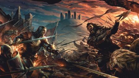 《英雄战士heroes warrior》剑 斧 旗帜 对战 4K超清游戏桌面壁纸高端桌面精选 3840x2160