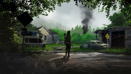 《最后生还者2-The Last of Us Part II》树林 房子 烟 水滩 车 4K高清游戏桌面壁纸高端桌面精选 3840x2160