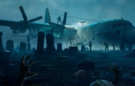 《僵尸炮艇 Zombie Gunship》3440x1440带鱼屏壁纸高端桌面精选