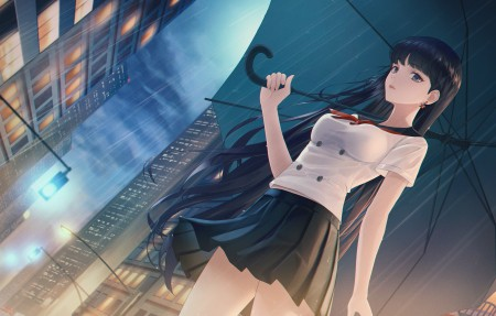 美少女战士 伞 夏日装 短裙 4k动漫美女壁纸百变桌面精选3840x2160