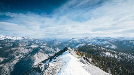优山美地,雪,山,森林,4K,高清,桌面极品壁纸精选 3840x2160