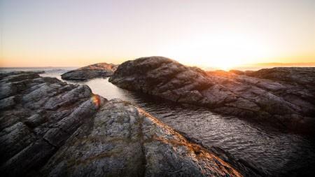 户外,海岸,光,阳光,岩石,日落高端桌面精选 3840x2160