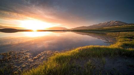 草原,湿地,湖,日落,2022,风景,照片高端桌面精选 3840x2160