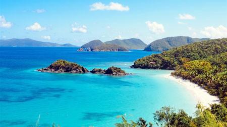 热带,岛屿,海滩,海湾,蓝色,海景高端桌面精选 3840x2160