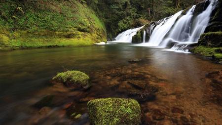 森林,小溪,瀑布,2022年,自然,风景,照片高端桌面精选 3840x2160