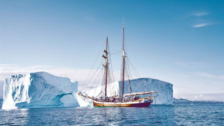 帆船,旅行,格陵兰岛,冰山高端桌面精选 3840x2160