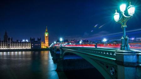 伦敦,大本钟,泰晤士河,桥,夜高端桌面精选 3840x2160