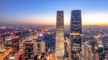北京,国际贸易中心商务区,夜,高清,摄影高端桌面精选 3840x2160