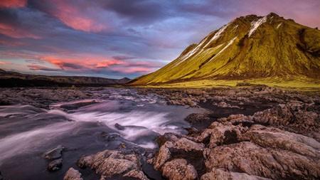 冰岛,山脉,河流,溪流,石头高端桌面精选 3840x2160