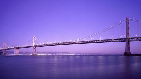 城市,跨海大桥,天际线,晚上高端桌面精选 3840x2160