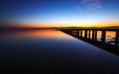 寂静的码头时刻,湖,2021年,风景,5K,照片高端桌面精选 5120x2880