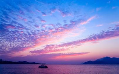 紫色,天空,日落,海洋,2021年,自然,5K,照片极品壁纸精选 5120x2880
