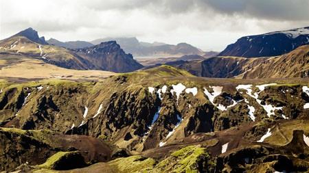 冰岛,夏季,高原,融化,雪,4K,风景,摄影高端桌面精选 3840x2160