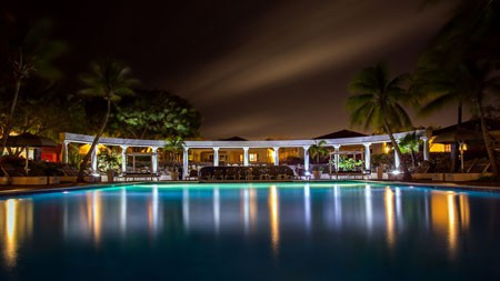 度假村,酒店,游泳池,蓝色,灯高端桌面精选 3840x2160