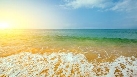 海滩,冲浪,海洋,阳光,视野,景观高端桌面精选 3840x2160