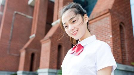 学院,校园,白衬衫,女孩,照片极品壁纸精选 3840x2160