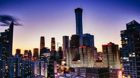 现代,城市,商业,建筑,晚上,照片百变桌面精选 3840x2160