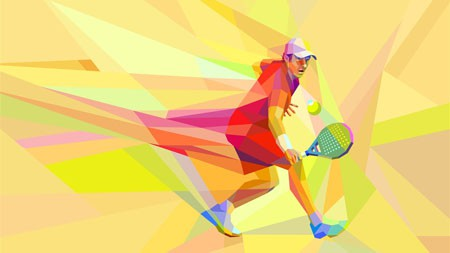 网球,选手,抽象,艺术,设计高端桌面精选 3840x2160