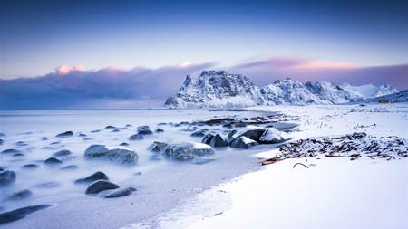 海岸,山,雪,2021年,自然风光,5K,照片高端桌面精选 3840x2160