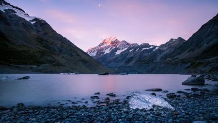 新西兰,雪山,湖,日落高端桌面精选 3840x2160
