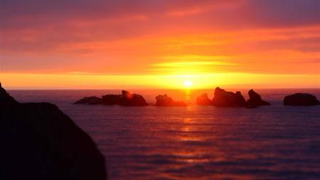 海洋,珊瑚礁,日落,天际线,景观高端桌面精选 3840x2160