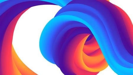 2022年,蓝红色,抽象,多彩,设计高端桌面精选 3840x2160