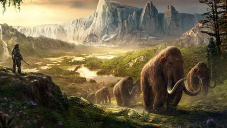 远处的,原始的,猛犸象,4K,高清,桌面高端桌面精选 3840x2160
