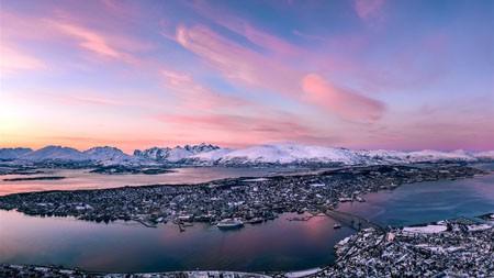 冰岛,港口,日落,2021,冬季,自然,5K,照片百变桌面精选 3840x2160
