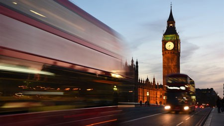 伦敦,巴士,大本钟,长时间曝光,摄影,4K,高清高端桌面精选 3840x2160