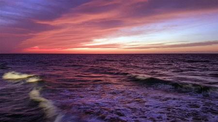 紫色,海洋,地平线,2022,自然,景观高端桌面精选 3840x2160