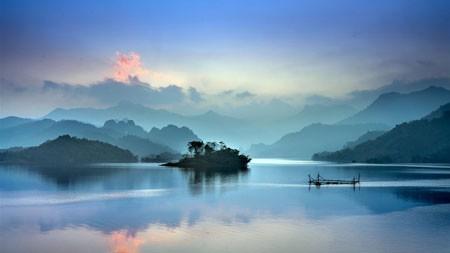 湖,河,山,早晨,雾,景观高端桌面精选 3840x2160