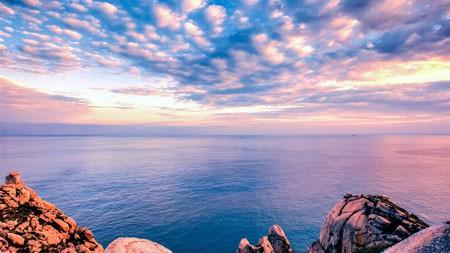 浙江,东极岛,海岸,悬崖,日落,风景高端桌面精选 3840x2160
