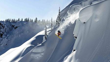 雪,山,阿拉斯加,滑雪,风景高端桌面精选 3840x2160