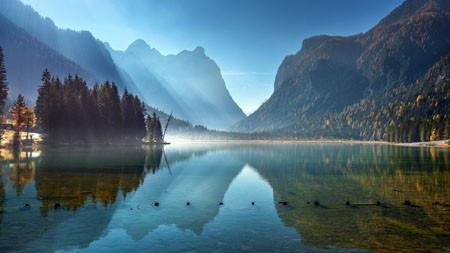 意大利,多比亚科湖,早晨,2021,风景画,4K,摄影高端桌面精选 3840x2160