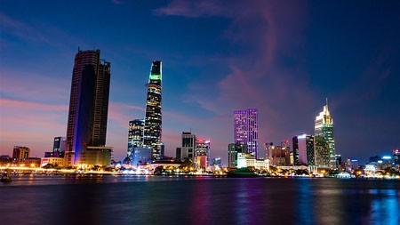 城市,旅行,河岸,建筑,夜景,照明高端桌面精选 3840x2160