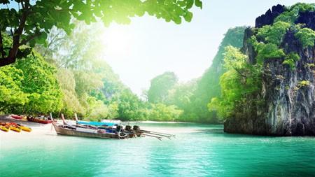 越南,热带,度假,海滩,小船高端桌面精选 3840x2160