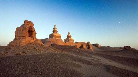 内蒙古,额济纳齐,黑,城堡,废墟高端桌面精选 3840x2160
