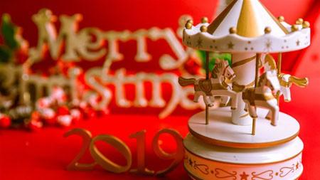 旋转木马玩具,圣诞快乐,2022,新的一年百变桌面精选 3840x2160