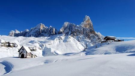 冬天,旅行,下雪,山,滑雪胜地高端桌面精选 3840x2160
