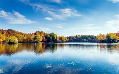 格林伍德湖,树叶秋天,2021年,风景,5K,照片高端桌面精选 5120x2880