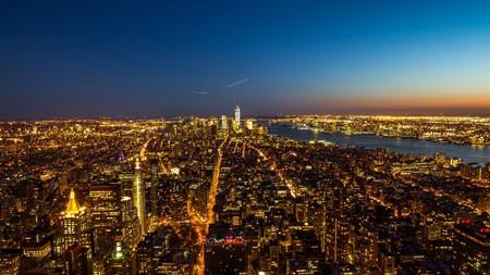 纽约,城市,摩天大楼,夜景高端桌面精选 3840x2160