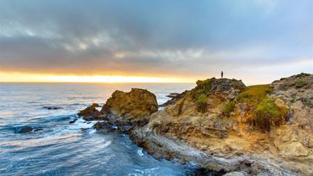 海,海岸,岩石,日出,自然,景观高端桌面精选 3840x2160