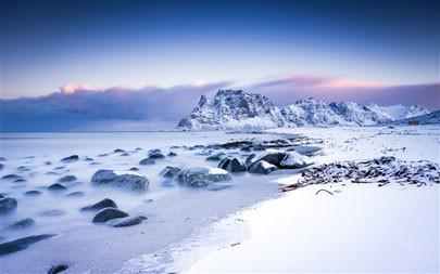 海岸,山,雪,2021年,自然风光,5K,照片高端桌面精选 5120x2880