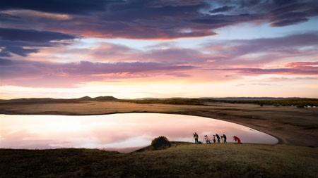 草原湖日落,2022,高清,自然,照片高端桌面精选 3840x2160