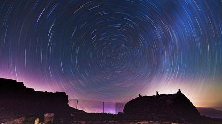 北极圈,紫色,天空,星迹,照片高端桌面精选 3840x2160