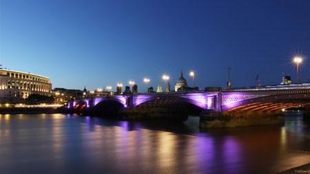 欧洲,河,石拱桥,夜晚高端桌面精选 3840x2160